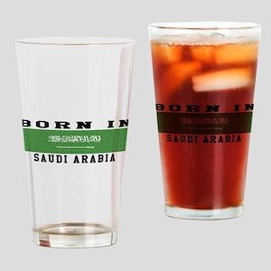 Born In Saudi Arabia Drinking Glass