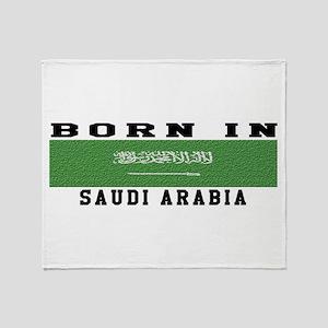 Born In Saudi Arabia Throw Blanket