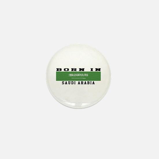 Born In Saudi Arabia Mini Button