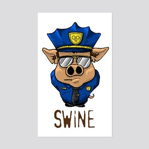 Swine Rectangle Sticker