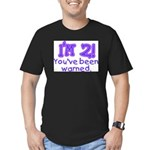 warnedabout2 Men's Fitted T-Shirt (dark)