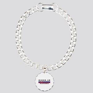 Born In Slovakia Charm Bracelet, One Charm