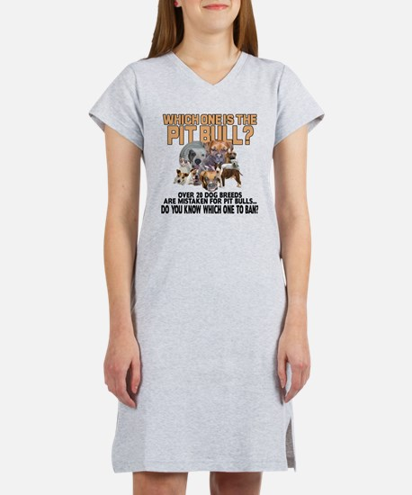 Find the Pit Bull Women's Nightshirt