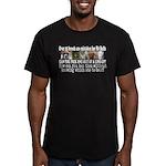 Doggie Line-up Men's Fitted T-Shirt (dark)