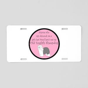 Girls Best Friend Aluminum License Plate
