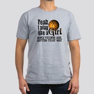 Play Like a Girl - Basketball Men's Fitted T-Shirt