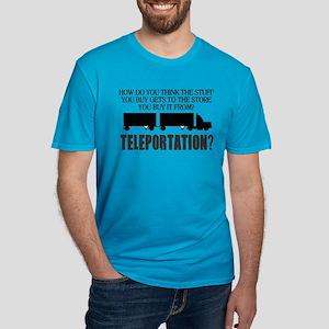 Teleportation Truck Dr Men's Fitted T-Shirt (dark)