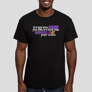 wiggleworm Men's Fitted T-Shirt (dark)
