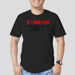 Morning Person Men's Fitted T-Shirt (dark)
