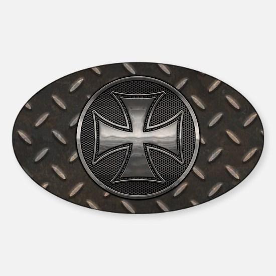 Gridiron Maltese III Sticker (Oval)