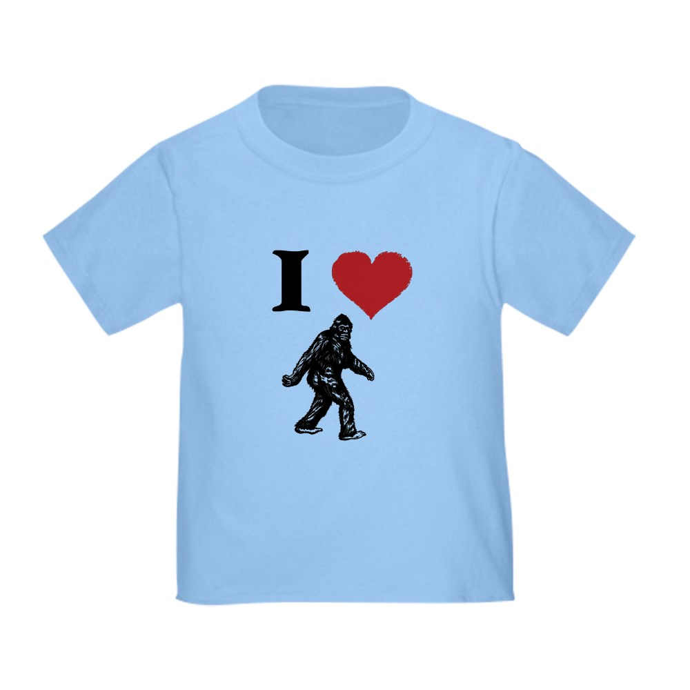 CafePress-I-LOVE-SASQUATCH-BIGFOOT-T-SHIRT-T-Shirt-Toddler-T-Shirt-803104851 thumbnail 3