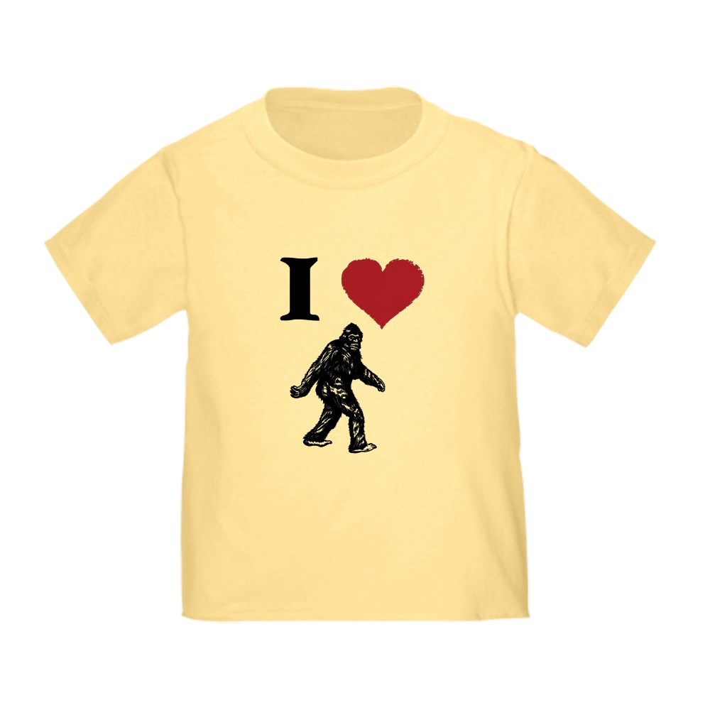 CafePress-I-LOVE-SASQUATCH-BIGFOOT-T-SHIRT-T-Shirt-Toddler-T-Shirt-803104851 thumbnail 11