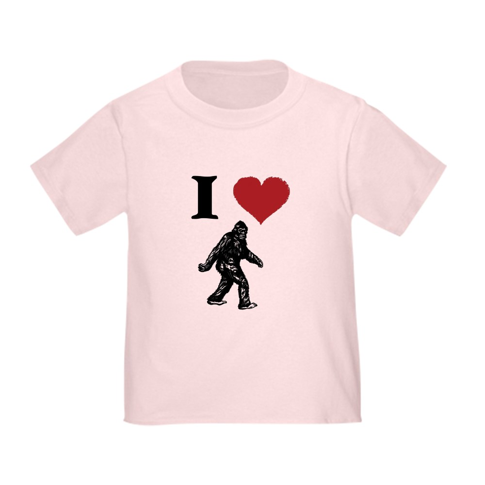 CafePress-I-LOVE-SASQUATCH-BIGFOOT-T-SHIRT-T-Shirt-Toddler-T-Shirt-803104851 thumbnail 16