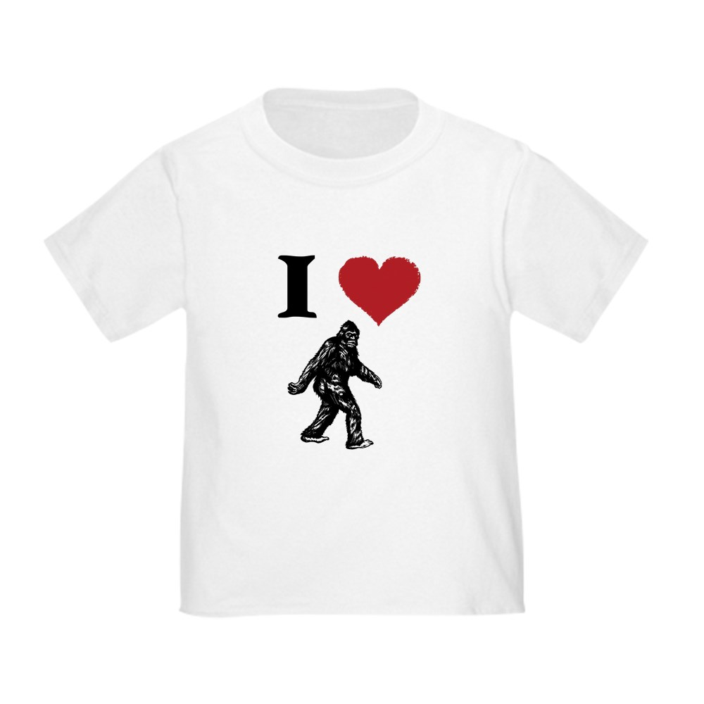 CafePress-I-LOVE-SASQUATCH-BIGFOOT-T-SHIRT-T-Shirt-Toddler-T-Shirt-803104851 thumbnail 22
