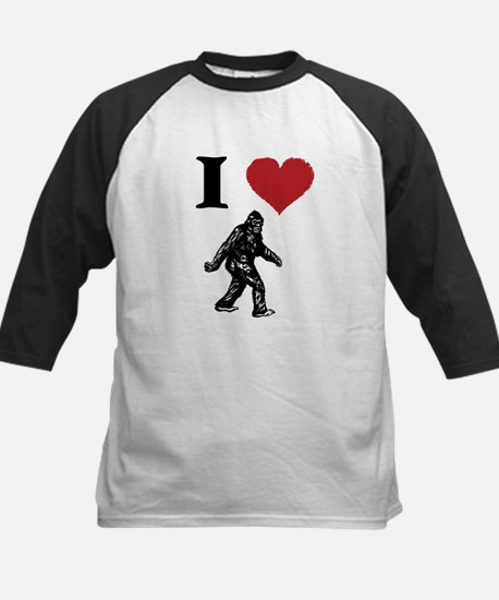 I LOVE SASQUATCH BIGFOOT T SHIRT Baseball Jersey