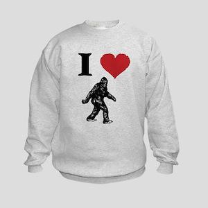 I LOVE SASQUATCH BIGFOOT T SHIRT Sweatshirt
