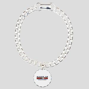 Born In Swaziland Charm Bracelet, One Charm