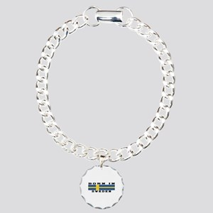 Born In Sweden Charm Bracelet, One Charm