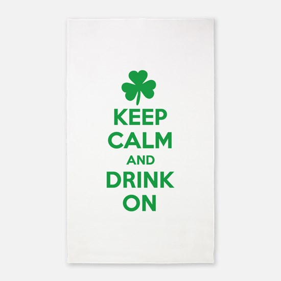 Keep Calm and Drink On. 3'x5' Area Rug