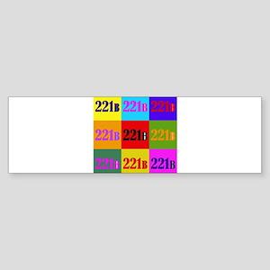 Colorful 221B Bumper Sticker