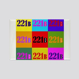 Colorful 221B Rectangle Magnet