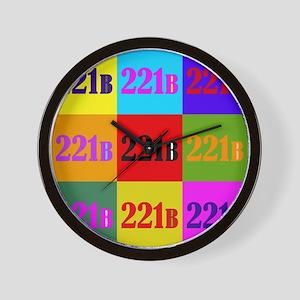 Colorful 221B Wall Clock