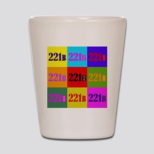 Colorful 221B Shot Glass