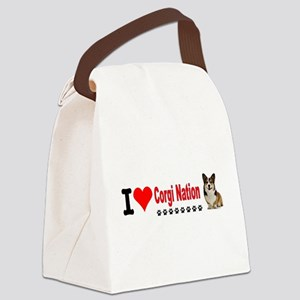 I Love Corgi Nation Canvas Lunch Bag