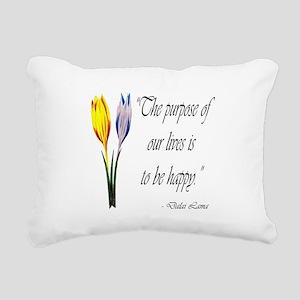 DALAI LAMA PURPOSE QUOTE Rectangular Canvas Pillow