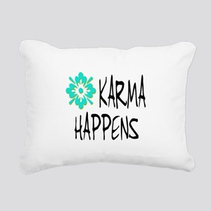 KARMA HAPPENS Rectangular Canvas Pillow