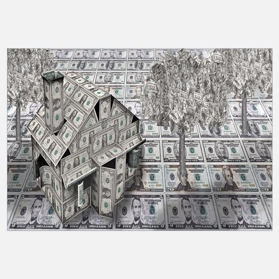 Dollar house with money tree
