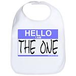 I am The One Hello Sticker Bib