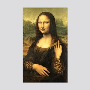 Mona Lisa Flip Off Sticker