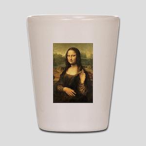 Mona Lisa Flip Off Shot Glass