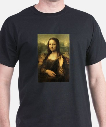 Mona Lisa Flip Off T-Shirt