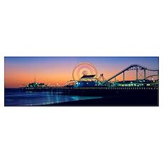 Ferris wheel, Santa Monica Pier, Los Angeles Count Poster