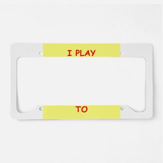 TENNIS License Plate Holder