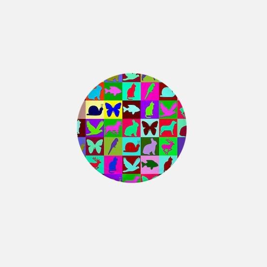 ANIMAL MOSAIC Mini Button