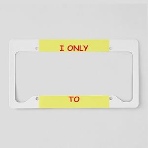 ROCK License Plate Holder