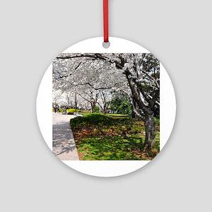 D.C. Cherry Blossoms Ornament (Round)