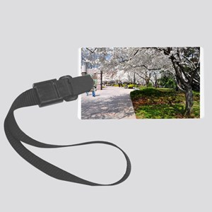 D.C. Cherry Blossoms Large Luggage Tag