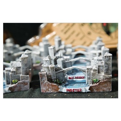 Miniatures, Old Town Mostar Market, Mostar, Bosnia Poster