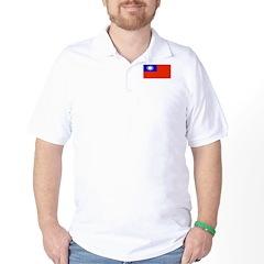Taiwan Taiwanese Blank Flag Golf Shirt