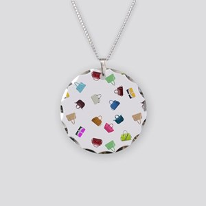 Colorful Little Handbags Necklace Circle Charm