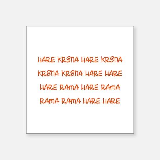 Hare Krsna Maha Mantra Sticker