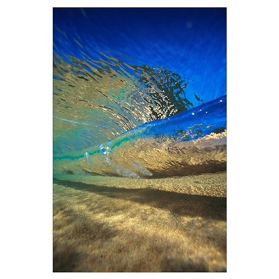 Abstract Underwater View Of Waves And Surf Poster