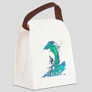 surfer art illustration Canvas Lunch Bag