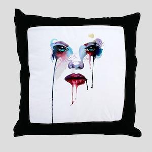 Girl aquarel 04 Throw Pillow