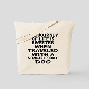 Traveled With Standard Poodle Dog Designs Tote Bag
