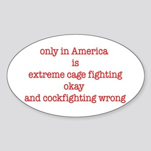 cage fighting Oval Sticker